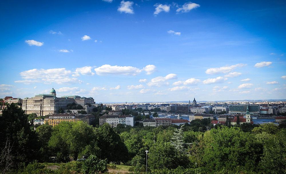 Widoki budynkow Budapeszt